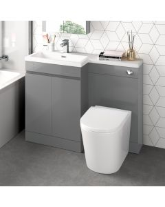 Trent Stone Grey Combination Vanity Basin and Boston Toilet 1100mm - Left Handed