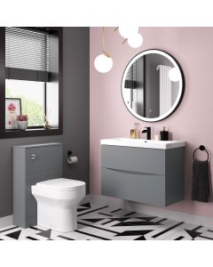 Austin Dove Grey Combination Vanity Basin and Denver Toilet 1300mm