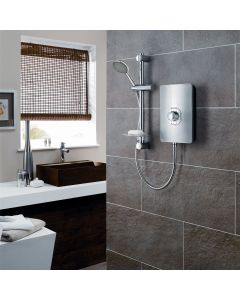 Triton Aspirante Brushed Steel 8.5KW Electric Shower