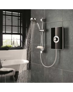 Triton Aspirante Black Gloss 8.5KW Electric Shower