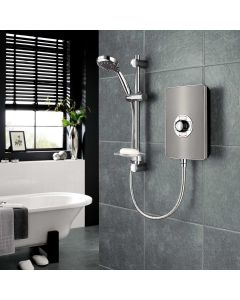 Triton Aspirante Gun Metal 8.5KW Electric Shower