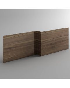 Walnut L Shaped Wooden Bath Front Panel 1700mm