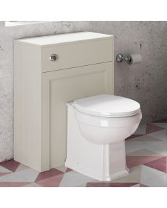 Traditional Chalk White Back To Wall Unit And Hudson Toilet