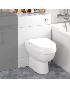 Harper Gloss White Back To Wall Unit And Seattle Toilet