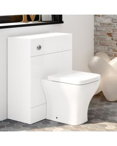 Harper Gloss White Back To Wall Unit And Atlanta Toilet