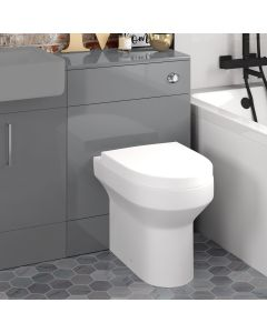 Harper Stone Grey Back To Wall Unit And Denver Toilet