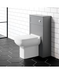 Melbourne Traditional Dove Grey Slimline Back To Wall Unit and Option Toilet