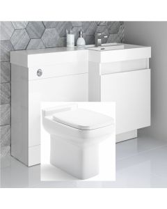 Olympia Gloss White Combination Basin Drawer and Trim Toilet 1200mm - Right Handed
