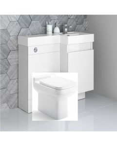 Olympia Gloss White  Combination Basin Drawer and Trim Toilet 900mm - Right Handed