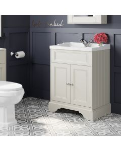 Lucia Chalk White Basin Vanity 630mm