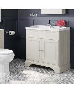 Lucia Chalk White Basin Vanity 830mm