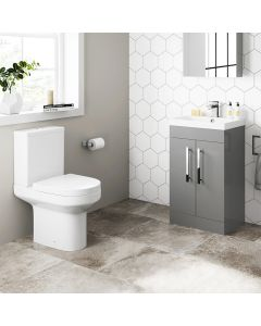 Avon Pebble Grey Basin Vanity 500mm and Toilet Set