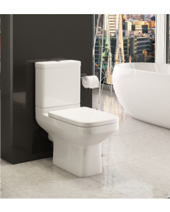Trim Close Couple Toilet With Soft Close Seat
