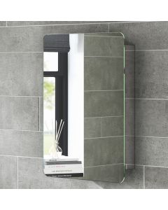 Liberty Stainless Steel Sliding Door Mirror Cabinet 660x460mm
