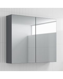 Harper Pebble Grey  Mirror Cabinet 600mm