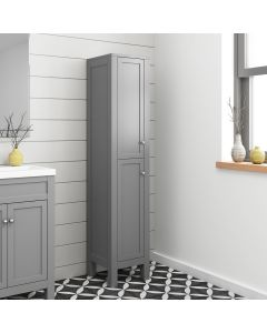 Melbourne Dove Grey Floor Standing Tall Cabinet 1400x330mm