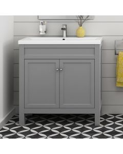 Melbourne Dove Grey Basin Vanity 800mm