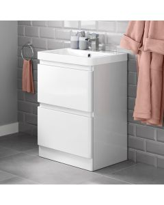 Denver Gloss White Basin Drawer Vanity 600mm