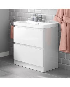 Denver Gloss White Basin Drawer Vanity 800mm