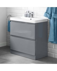 Denver Storm Grey Basin Drawer Vanity 800mm