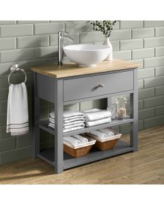 Sutton Dove Grey Vanity with Round Counter Top Basin 800mm