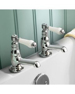 Traditional Chrome Hot & Cold Bath Taps