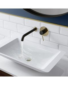 Black and Gold Wall Mounted Bath Filler