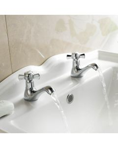 Loxley Traditional Chrome Hot & Cold Bath Taps