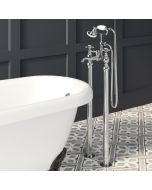 Sherbourne Traditional Chrome Freestanding Bath Shower Mixer Tap