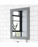 Dove Grey Bathroom Mirror 700x500mm