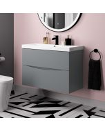 Austin Dove Grey Wall Hung Basin Drawer Vanity 800mm