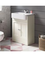 Monaco Chalk White Basin Vanity 600mm