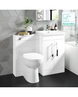 Avon Gloss White Combination Vanity Basin and Austin Toilet 1000mm