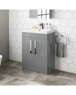 Avon Pebble Grey Basin Vanity 600mm