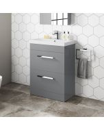 Avon Pebble Grey Basin Drawer Vanity 600mm