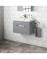 Avon Pebble Grey Wall Hung Basin Drawer Vanity 600mm