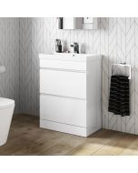 Trent Gloss White Basin Drawer Vanity 600mm