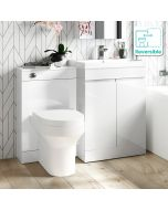 Trent Gloss White Combination Vanity Basin and Denver Toilet 1100mm