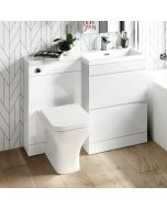 Trent Gloss White Combination Basin Drawer and Atlanta Toilet 1100mm - Right Handed